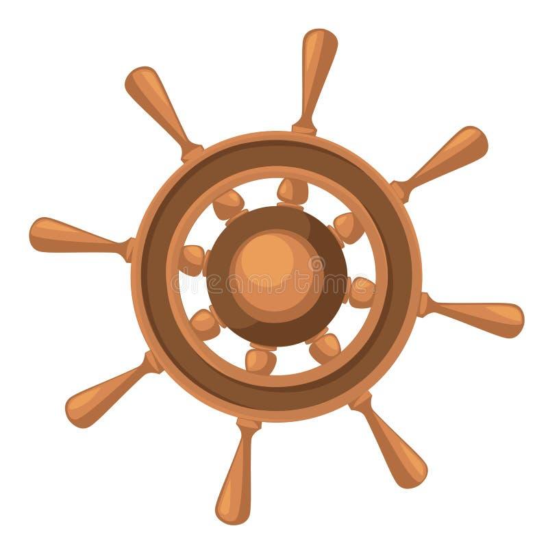 Spedisca l'illustrazione d'annata di legno marina della ruota isolata sull'illustrazione bianca di vettore della pagina del sito  royalty illustrazione gratis