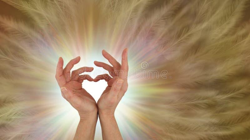 Spedizione delle vibrazioni incondizionate di guarigione di amore immagine stock libera da diritti