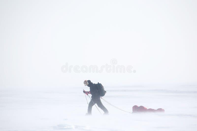 Spedizione di inverno fotografia stock