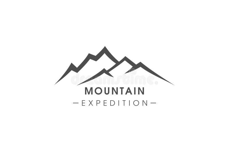 Spedizione semplice della montagna del testo di logo immagini stock