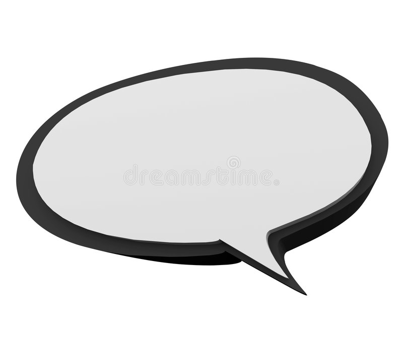 Speech Bubble. Put your own text in this speech bubble royalty free illustration