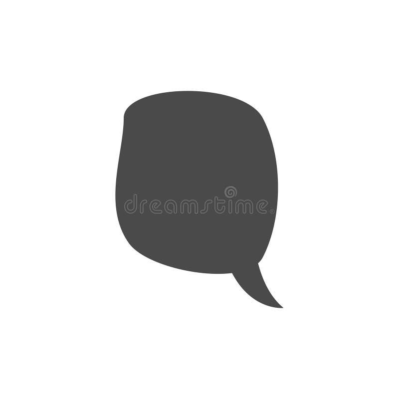 Speech bubble, speech balloon, chat bubble vector icon for apps and websites. Design, symbol, illustration, talk, speak, shape, communication, comic, dialog stock photography