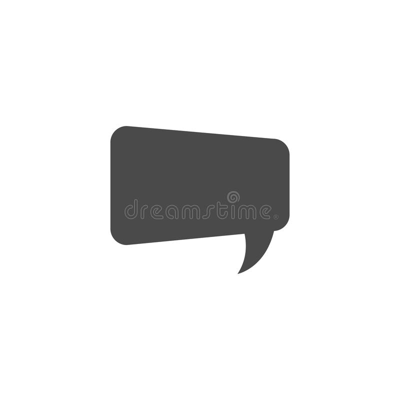 Speech bubble, speech balloon, chat bubble vector icon for apps and websites. Design, symbol, illustration, talk, speak, shape, communication, comic, dialog royalty free illustration
