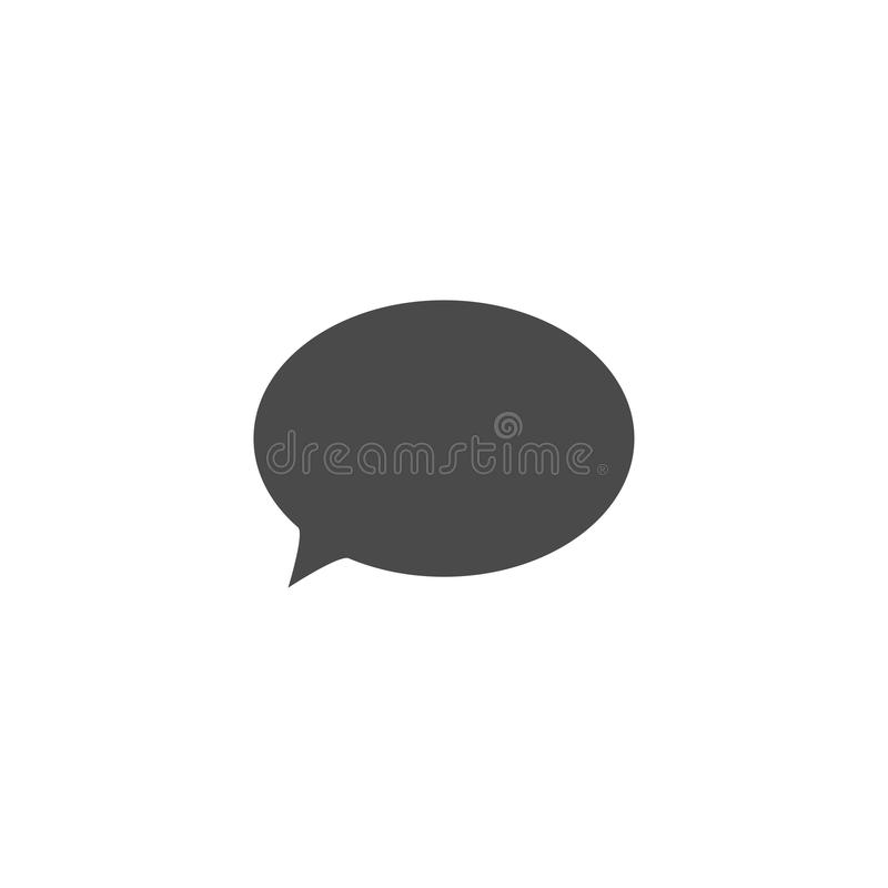 Speech bubble, speech balloon, chat bubble vector icon for apps and websites. Design, symbol, illustration, talk, speak, shape, communication, comic, dialog stock illustration