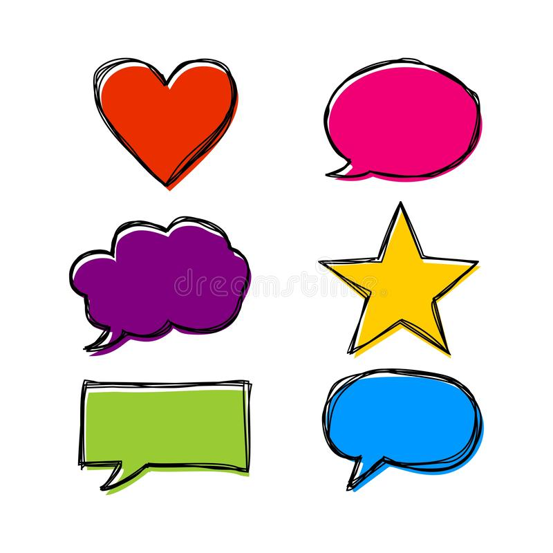 Handwrite speech bubble vector. royalty free illustration