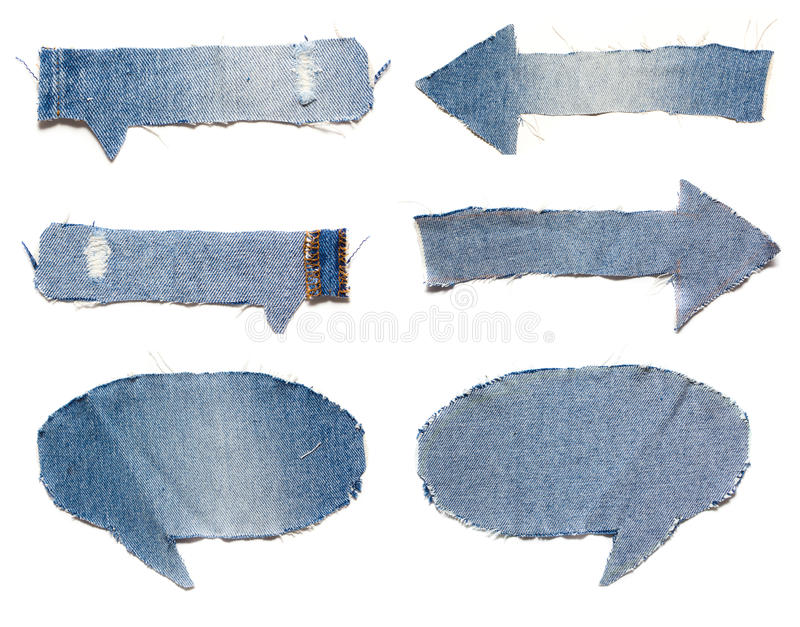 Download Speech Bubble Blue Jeans Texture Stock Photo - Image: 26903998