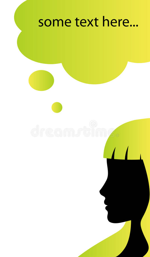 Speech bubble business card template royalty free illustration
