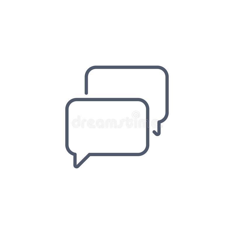 Speech bubble, chat icon linear style. Minimalism style. Blank template, vector illustration isolated on white background vector illustration