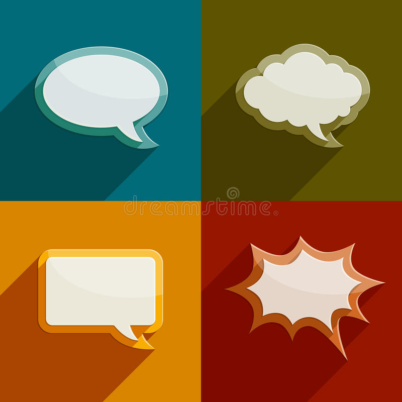 Speech bubble clouds kit for messages. Color speech bubble clouds kit for messages - eps10 vector illustration royalty free illustration