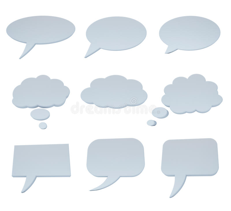 Speech bubble collection on white