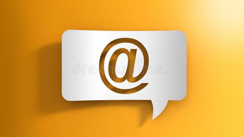 Speech bubble with E-mail sign. Image of Speech bubble with E-mail sign vector illustration