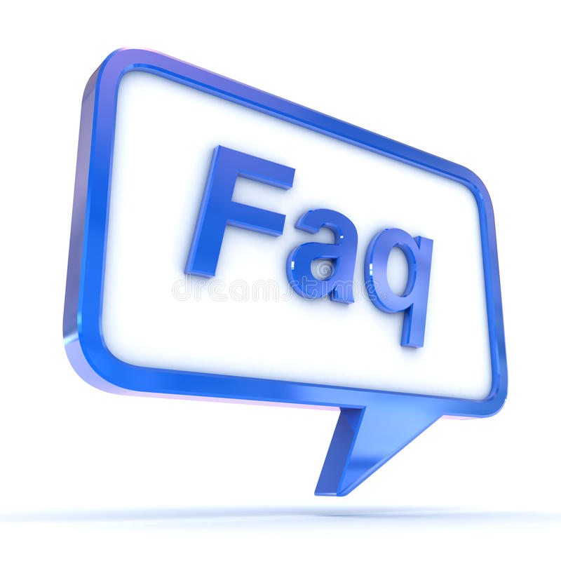 Speech Bubble FAQ Stock Photo