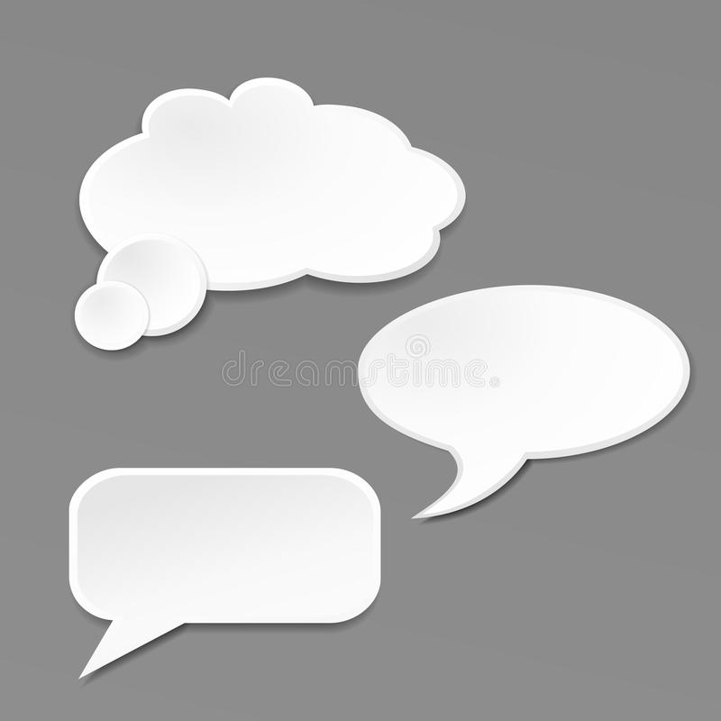 Download Speech Bubble On Grey Background Stock Vector - Image: 31782549