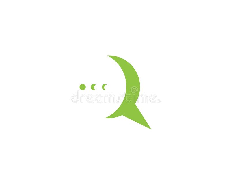 Speech bubble logo and symbol template icon stock illustration