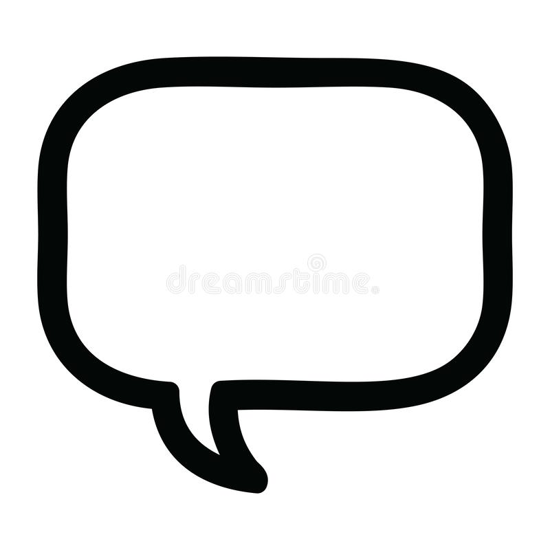 speech bubble icon stock illustration