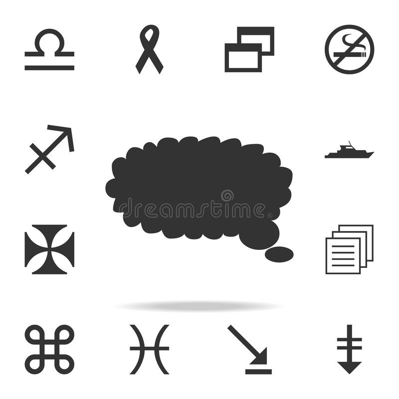 Speech bubble icon. Detailed set of web icons. Premium quality graphic design. One of the collection icons for websites, web desig stock illustration