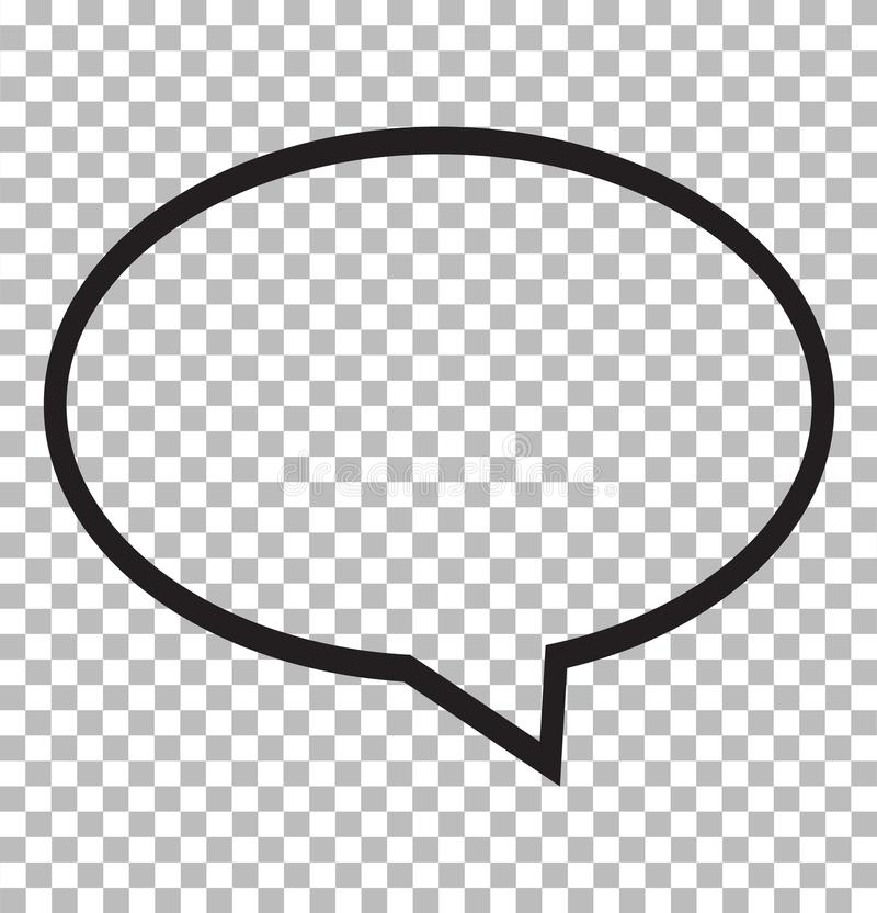 Speech bubble icon isolated on transparent background. royalty free illustration