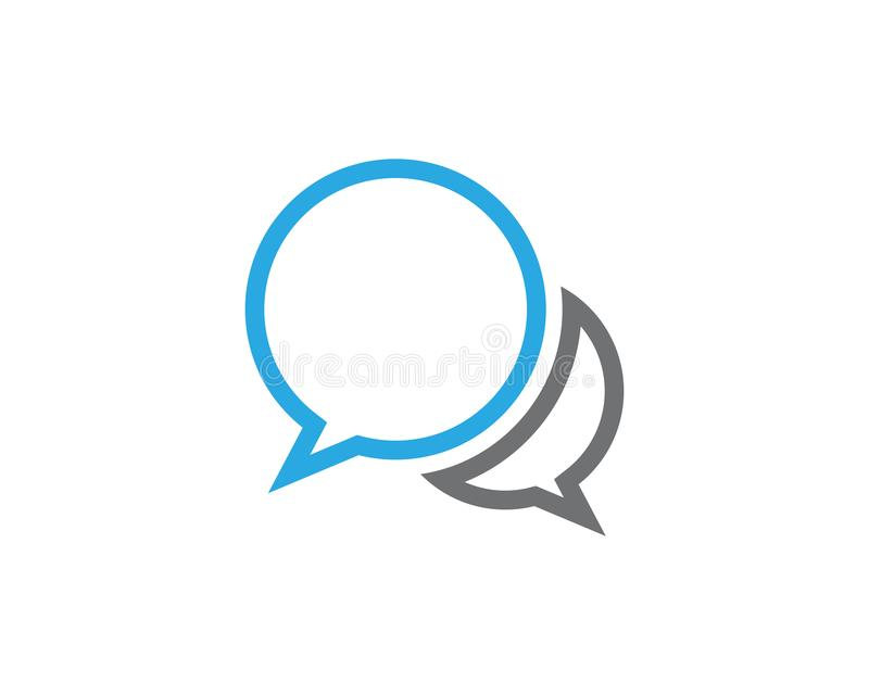 Speech bubble icon Logo template stock illustration