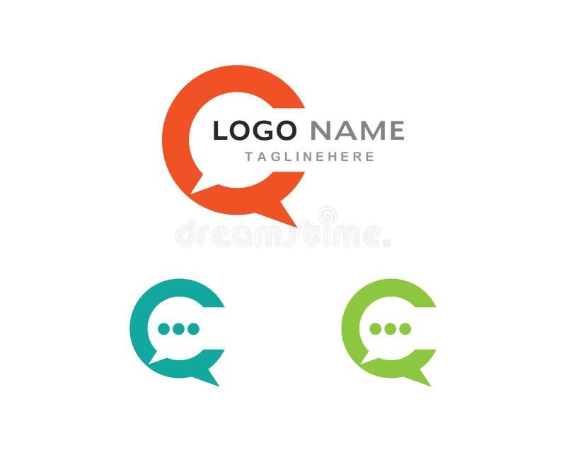 Speech bubble icon. Logo template vector illustration stock illustration