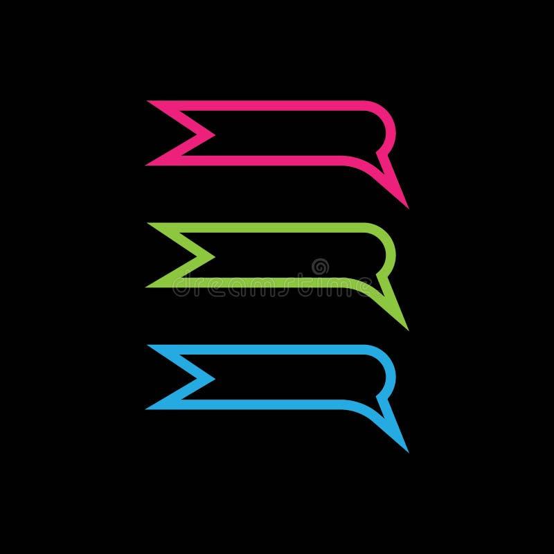 Speech bubble icon Logo template vector. royalty free illustration