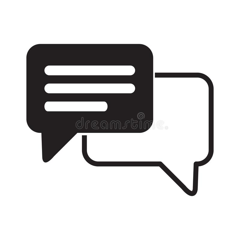 Speech bubble icon. One of set web icons. royalty free illustration