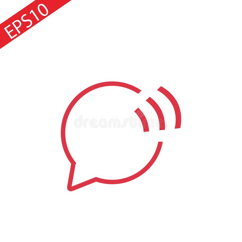 Speech bubble icon. One of set web icons vector illustration