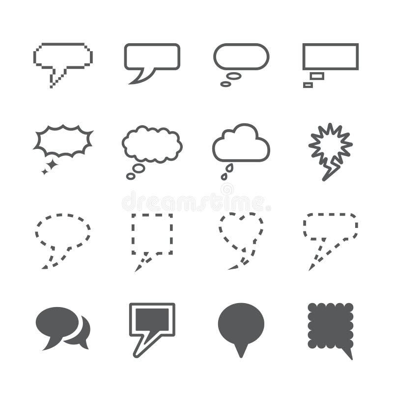 Speech bubble icon set stock photo