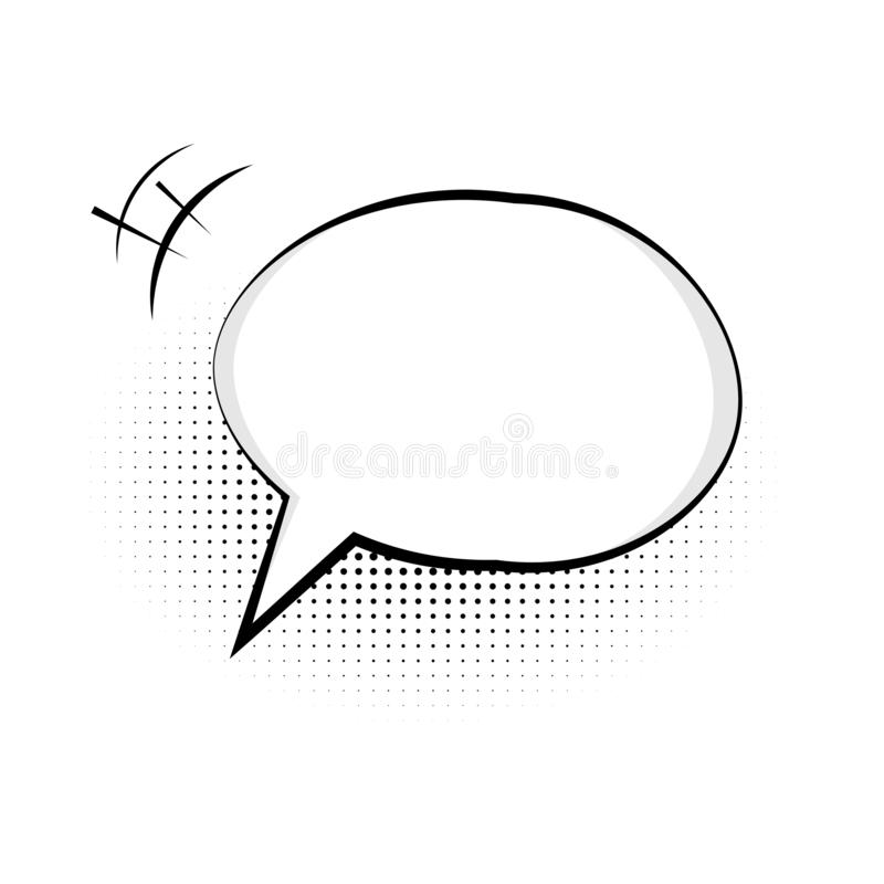 Speech bubble icon. Symbol of chat for web design or mobile app. Vector message sign. royalty free illustration