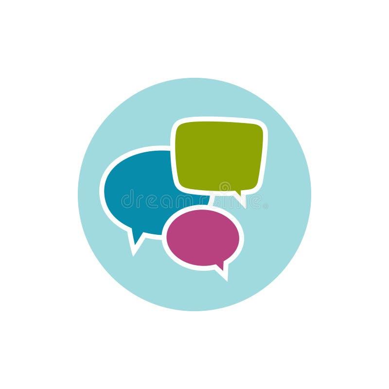 Speech bubble icon, vector illustration. Colorful round speech bubble icon, vector illustration stock illustration