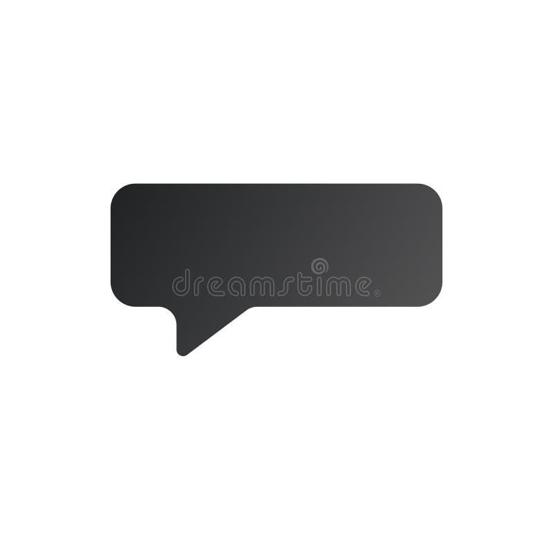 Speech bubble icon, vector illustration isolated on white background stock illustration