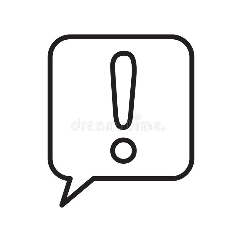 Speech bubble icon vector sign and symbol isolated on white background, Speech bubble logo concept , outline symbol, linear sign royalty free illustration