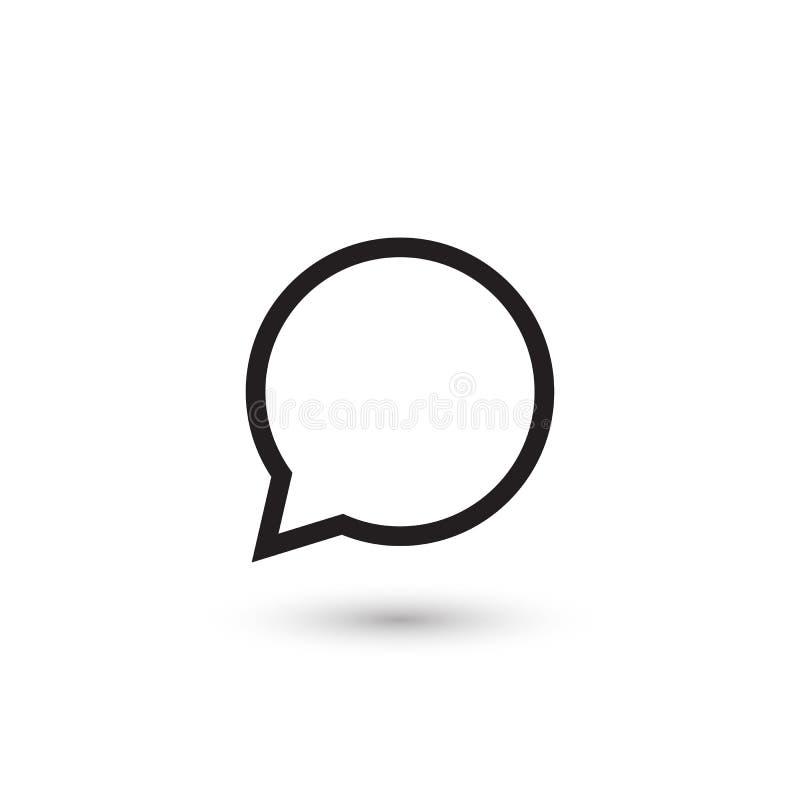 Speech bubble icon. Vector on white isolated stock illustration