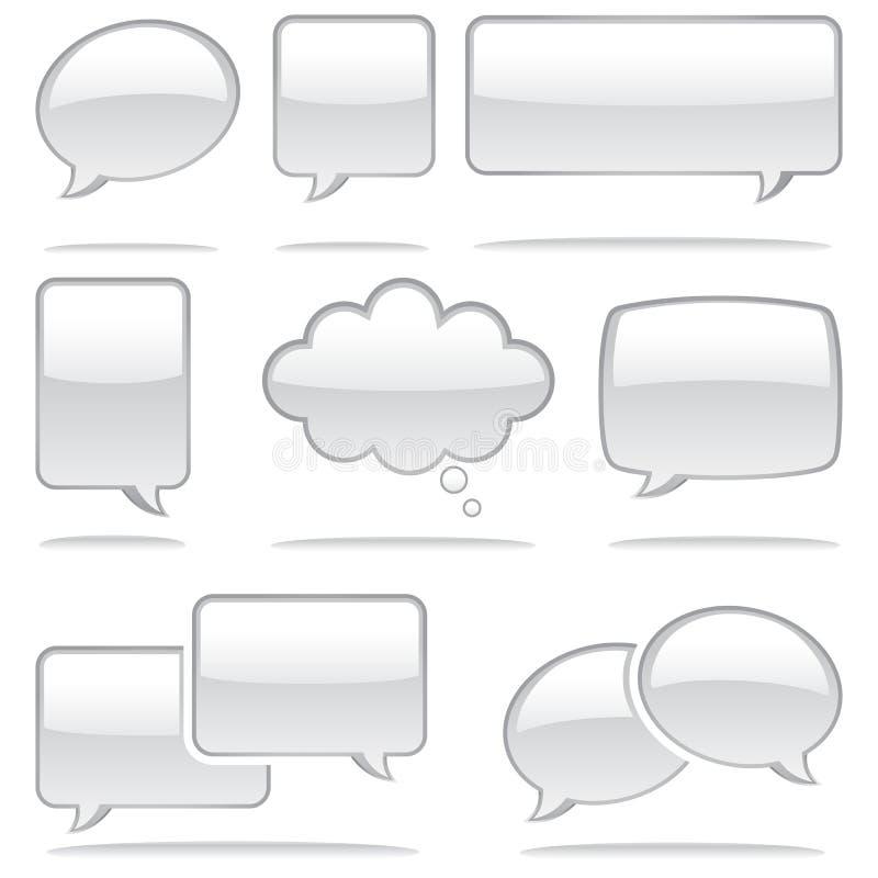 Speech Bubble Icons royalty free illustration