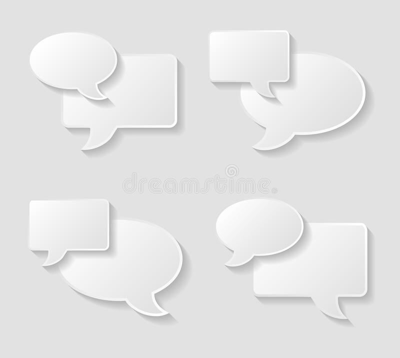 Download Speech bubble icons set stock vector. Illustration of symbol - 41158447