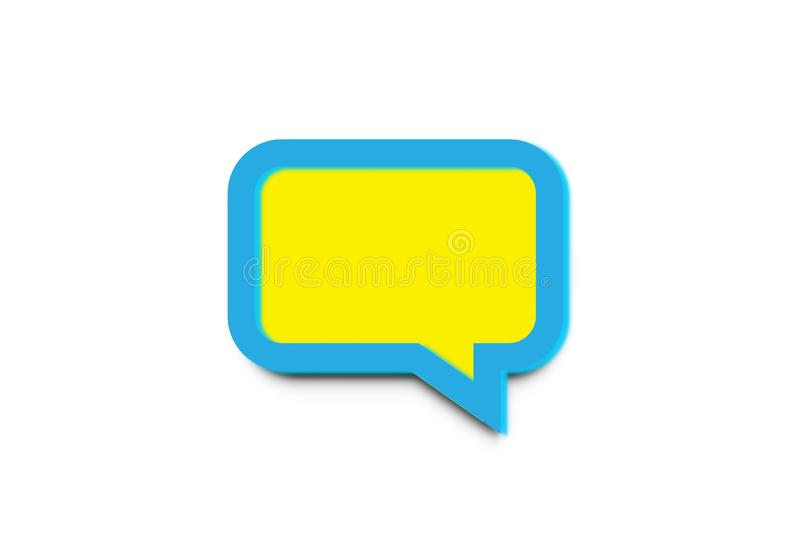 Speech bubble isolated on white background. Illustration design royalty free stock photos