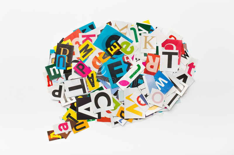 Download Speech Bubble Letters In Cut Out Magazine Stock Image