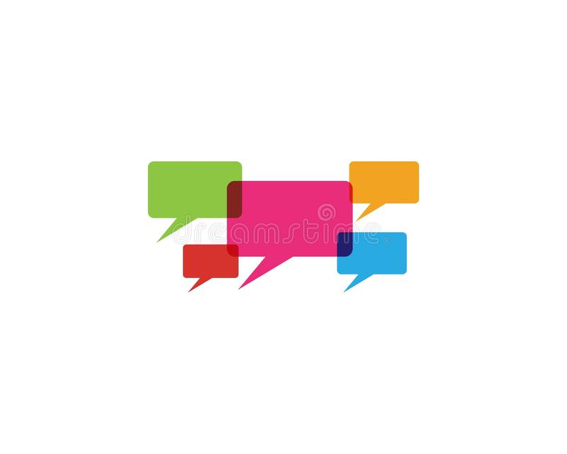 Speech bubble logo and symbol template icon vector illustration