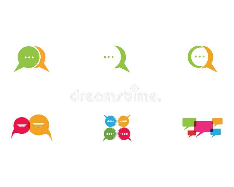 Speech bubble logo and symbol template icon royalty free illustration