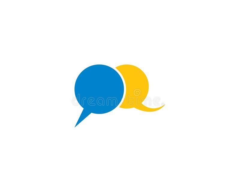 Speech bubble logo stock illustration