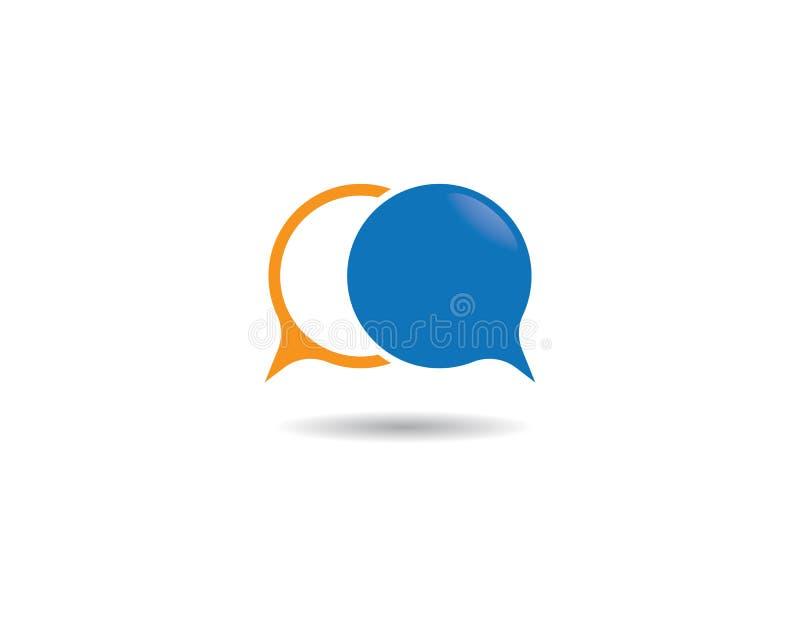 Speech bubble logo vector illustration