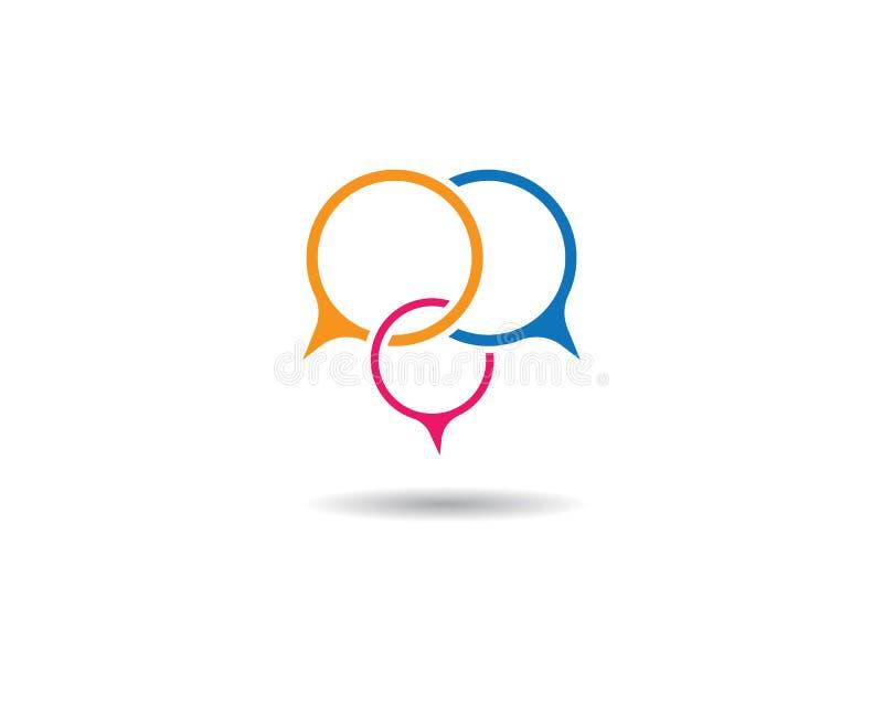 Speech bubble logo royalty free illustration