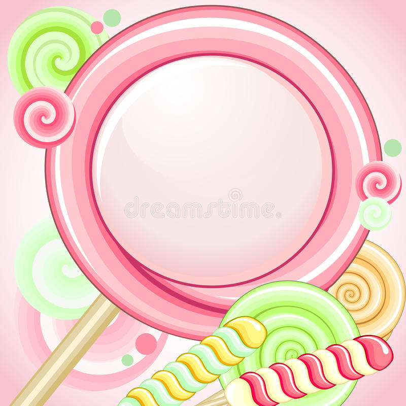 Download Speech bubble lollipop stock vector. Image of candy, layout - 25296494