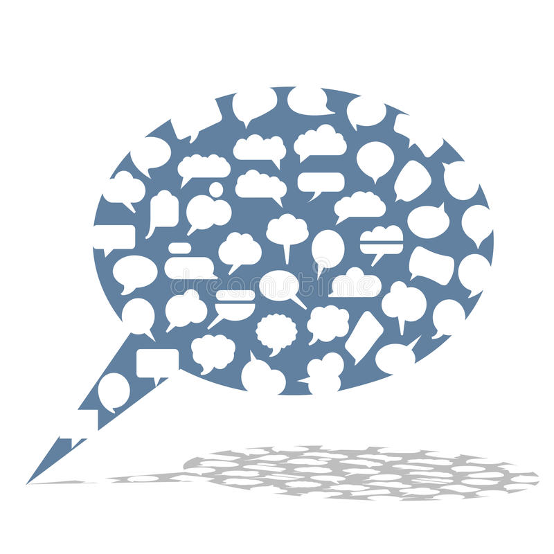 Speech bubble made from small bubbles royalty free illustration