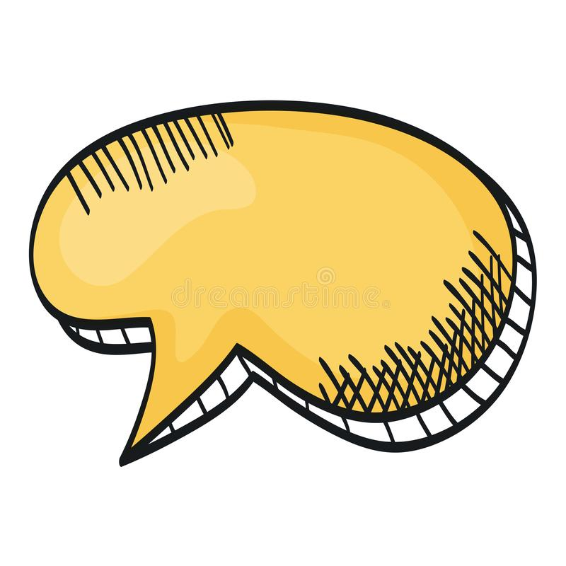 Speech bubble message with relief drawing. Vector illustration design stock illustration