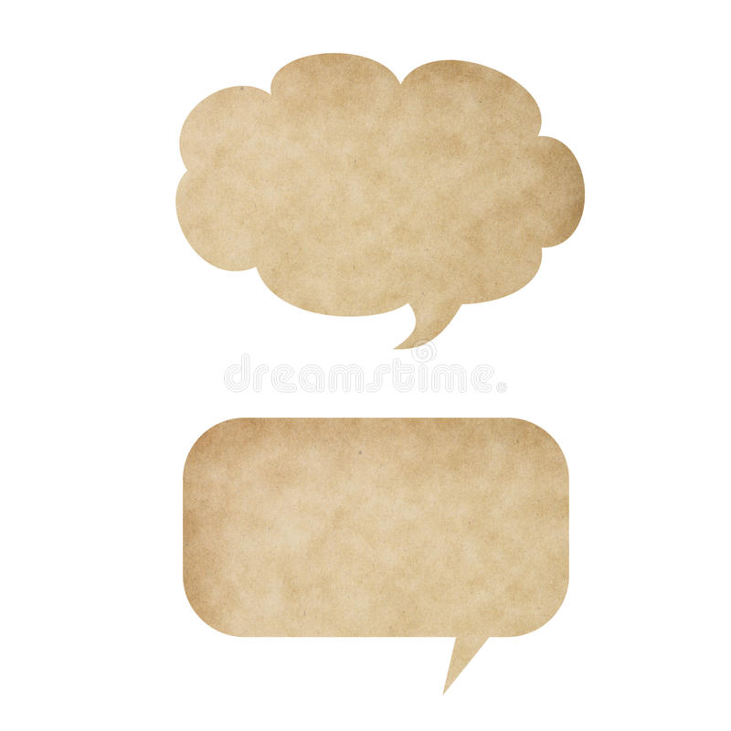 Speech Bubble Paper stock photo