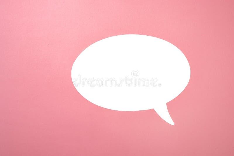 Speech Bubble on pink stock image