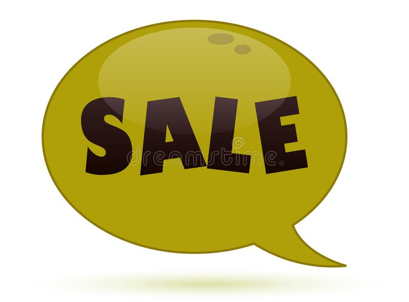 Speech bubble with sale. Time for shopping stock photography