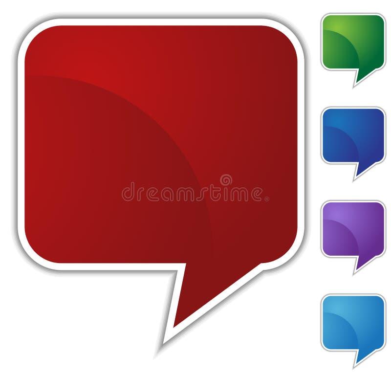 Speech Bubble Set - Blank stock illustration