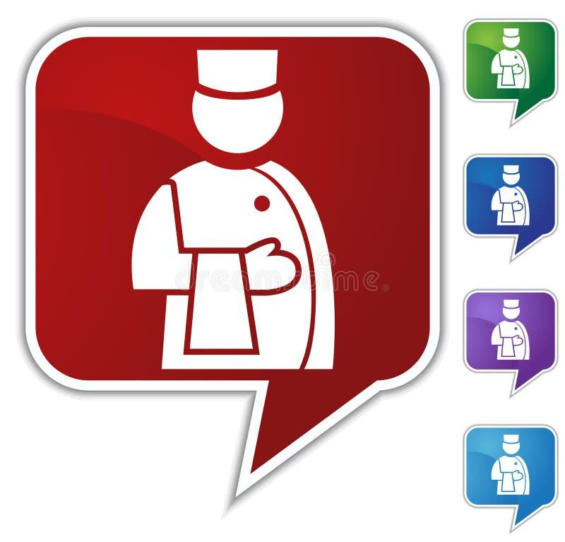 Speech Bubble Set - Waiter stock illustration