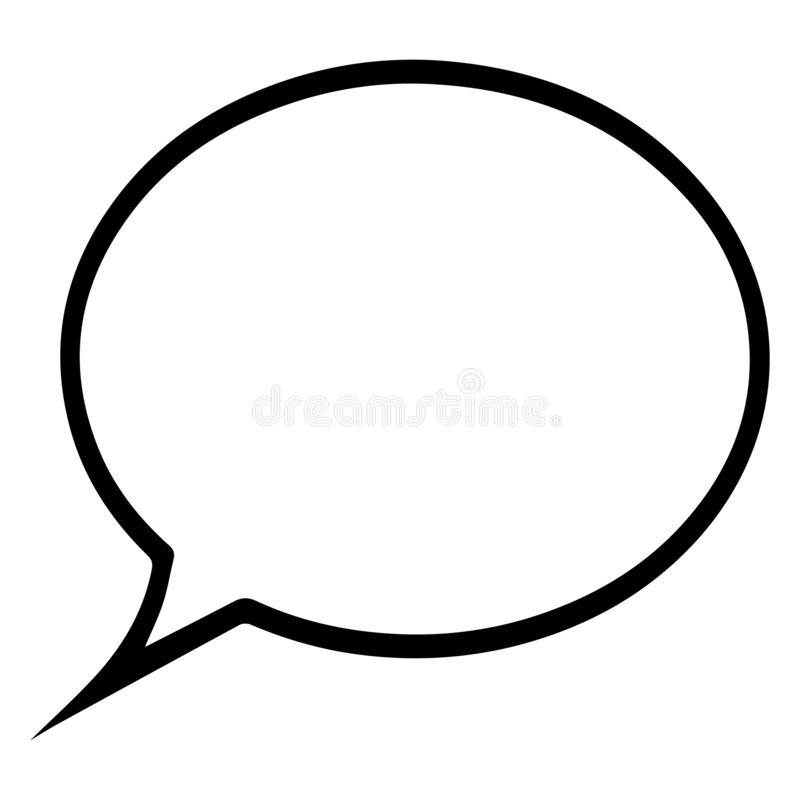 Speech bubble, speech balloon, chat bubble line art vector icon for apps and websites vector illustration